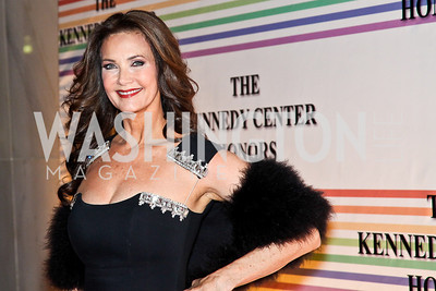 Photo by Tony Powell. Lynda Carter. Kennedy Center Honors Red Carpet. December 5, 2010