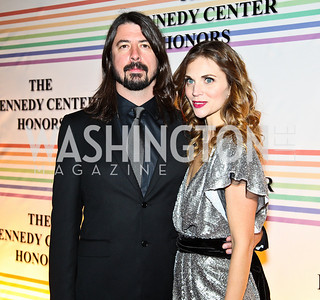 Photo by Tony Powell. Dave Grohl and Jordyn Blum Grohl. Kennedy Center Honors Red Carpet. December 5, 2010
