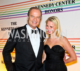 Photo by Tony Powell. Kelsey Grammer, Kate Walsh. Kennedy Center Honors Red Carpet. December 5, 2010