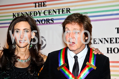 Photo by Tony Powell. Nancy Shevell, Honoree Sir Paul McCartney. Kennedy Center Honors Red Carpet. December 5, 2010