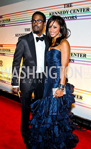 Photo by Tony Powell. Chris Rock and Malaak Compton-Rock. Kennedy Center Honors Red Carpet. December 5, 2010