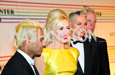 Photo by Tony Powell. Tony Kanal, Gwen Stefani, Stephen Bradley, Adrian Young. Kennedy Center Honors Red Carpet. December 5, 2010
