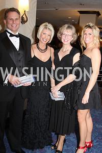 Rusty Ikirt, Debbie Ikirt, Becky Coram, Sarah Coram 29th Annual Kidney Ball. November 21, 2009. Photo's by Michael Domingo