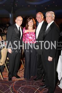 Mark Ratner, Stephany Ratner, Ron Paul, Roy Eskow 29th Annual Kidney Ball. November 21, 2009. Photo's by Michael Domingo
