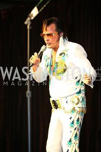 Elvis impersonator Eddie Powers.