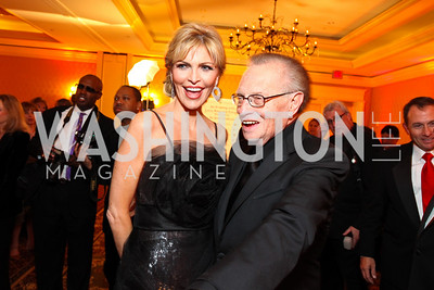 Larry King and Shawn Southwick-King. Larry King Cardiac Foundation Gala.