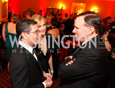 Washington Redskins owner Dan Snyder and Tanya Snyder, Washington Post Chairman and CEO Donald Graham.