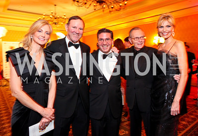 Tanya Snyder, Washington Post Chairman and CEO Donald Graham, Washington Redskins owner Dan Snyder, Larry King and Shawn Southwick-King.