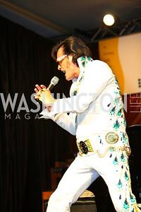 Elvis impersonator Eddie Powers. Larry King Cardiac Foundation Gala.