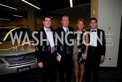 Sean WhipkeyGary Whipkey,Mary Beth WhipkeyBrendan Whipkey,Lombardi Gala ,November 6,2010,Kyle Samperton