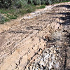 One section of Burma Road had unique surface formed by sandstone layers at 45 degree angle.