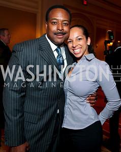 Leon Harris and Nicole Restivo. March of Dimes Signature Chefs Auction of DC. Ritz Carlton Ballroom. November 2, 2009. photos by Tony Powell