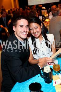 Dan Vagnerini and Heather Han. March of Dimes Signature Chefs Auction of DC. Ritz Carlton Ballroom. November 2, 2009. photos by Tony Powell