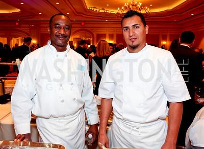 Kora Restaurant Executive Chef Amadou Ouattara and Jimmy Palomo. March of Dimes Signature Chefs Auction of DC. Ritz Carlton Ballroom. November 2, 2009. photos by Tony Powell