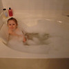 Abby enjoying my tub.  lol