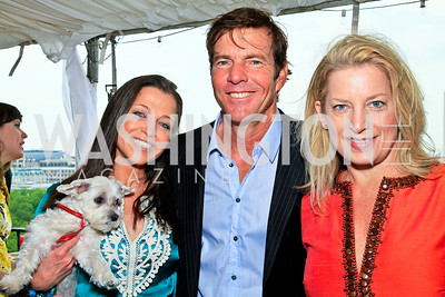 Wendy Diamond, Dennis Quaid, Nathalie Giske. Photo by Tony Powell. McLaughlin/Thomson-Reuters WHCAD Brunch. May 2, 2010