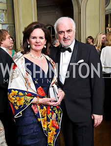 Photo by Tony Powell. Agnes Aerts and Belgium Ambassador Jan Matthysen. Meridian Ball 2010. Meridian Intl. Center. October 1, 2010