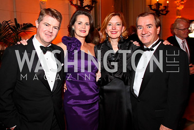 Photo by Tony Powell. John Gill, Suzanne Duvall, Marie Roce, Congressman Ed Royce. Meridian Ball 2010. Meridian Intl. Center. October 1, 2010