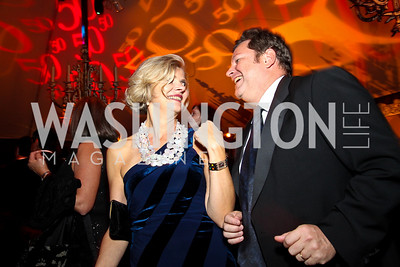 Photo by Tony Powell. Margaret Bjorgulfsdottir, Mike Hammer. Meridian Ball 2010. Meridian Intl. Center. October 1, 2010