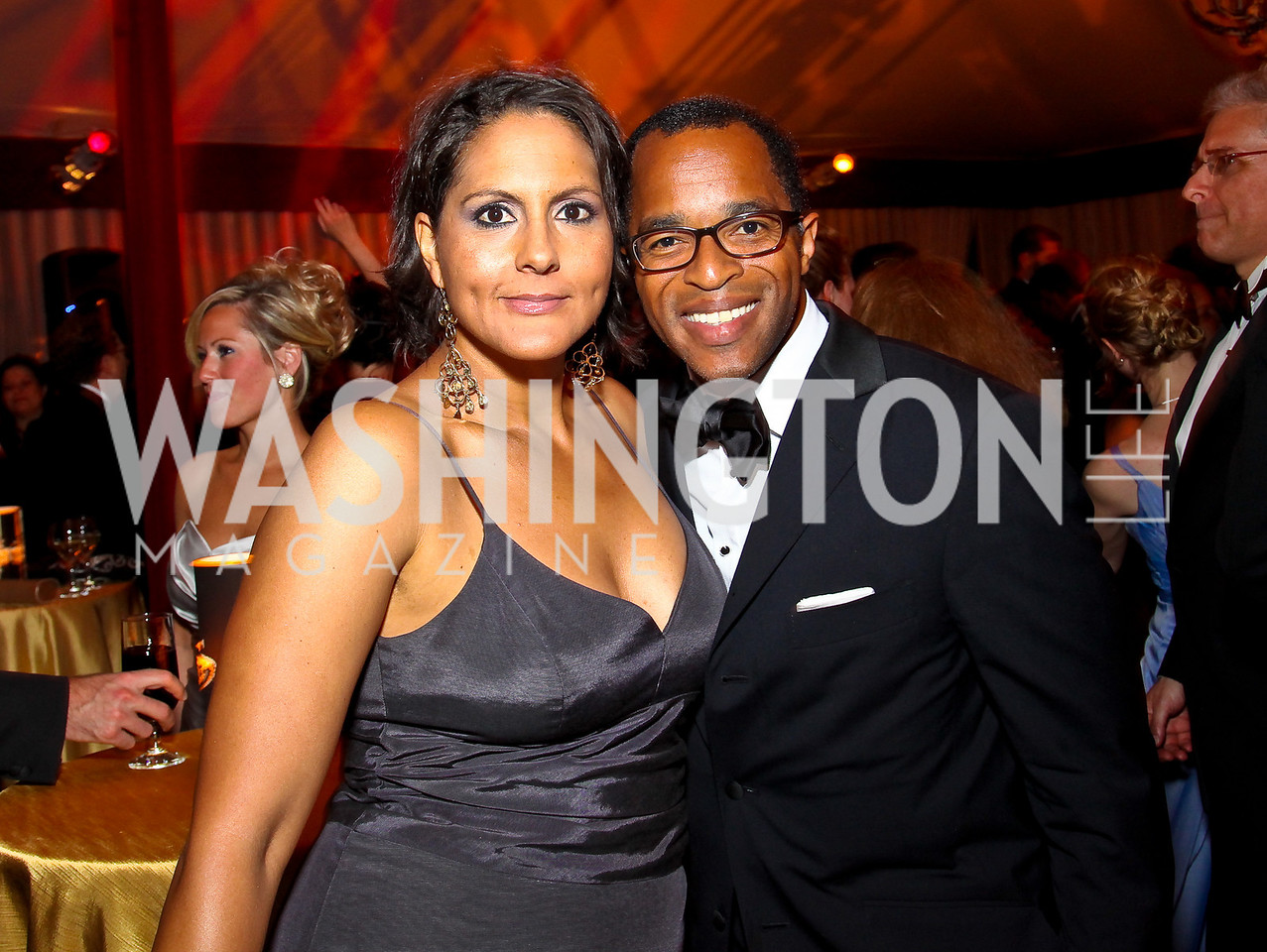 Photo by Tony Powell. Karen Finney, Jonathan Capehart. Meridian Ball 2010. Meridian Intl. Center. October 1, 2010