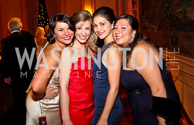 Photo by Tony Powell. Olivia Cosby, Robin Forner, Alana Ramo, Lauren Paraggio. Meridian Ball 2010. Meridian Intl. Center. October 1, 2010
