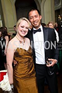 Photo by Tony Powell. Lauren McGaughly, Ben Chang. Meridian Ball 2010. Meridian Intl. Center. October 1, 2010