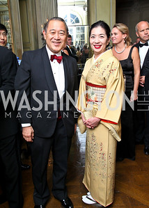 Photo by Tony Powell. Japan Ambassador Ichiro Fujisaki and Yoriko Fujisaki. Meridian Ball 2010. Meridian Intl. Center. October 1, 2010