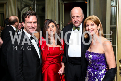 Photo by Tony Powell. Bruce Friedman, Bahrain Ambassador Houda Nonoo, John Negroponte, Paula Dobriansky. Meridian Ball 2010. Meridian Intl. Center. October 1, 2010
