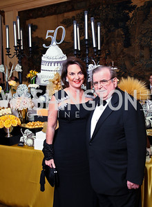 Photo by Tony Powell. Grace and Morton Bender. Meridian Ball 2010. Meridian Intl. Center. October 1, 2010