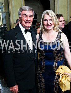 Photo by Tony Powell. Sam Donaldson and Jan Smith. Meridian Ball 2010. Meridian Intl. Center. October 1, 2010