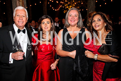 Photo by Tony Powell. League of Arab States Amb. Hussein Hassouna, Bahrain Amb. Houda Nonoo, Nevine Hassouna, Samia Farouki. Meridian Ball 2010. Meridian Intl. Center. October 1, 2010