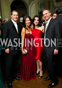 Photo by Tony Powell. Jim and Mai Abdo, Tracy and Adam Bernstein. Meridian Ball 2010. Meridian Intl. Center. October 1, 2010