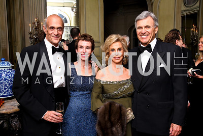 Photo by Tony Powell. Michael and Meryl Chertoff, Wilma and Stuart Bernstein. Meridian Ball 2010. Meridian Intl. Center. October 1, 2010