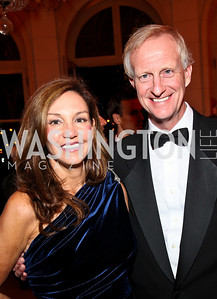 Photo by Tony Powell. Michele Seiver, Jack Evans. Meridian Ball 2010. Meridian Intl. Center. October 1, 2010