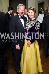 Photo by Tony Powell. John and Antonia Gore. Meridian Ball 2010. Meridian Intl. Center. October 1, 2010