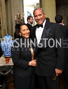 Photo by Tony Powell. Gail and Togo West. Meridian Ball 2010. Meridian Intl. Center. October 1, 2010