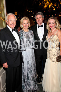 Photo by Tony Powell. Mandy and Mary Ourisman, Congressman Michael McCaul and Linda McCaul. Meridian Ball 2010. Meridian Intl. Center. October 1, 2010