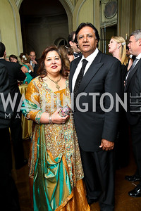 Photo by Tony Powell. Shaista and Ray Mahmood. Meridian Ball 2010. Meridian Intl. Center. October 1, 2010
