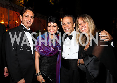 Photo by Tony Powell. Afghanistan Amb. Said Jawad, Shamim Jawad, Ricardo and Isabel Ernst. Meridian Ball 2010. Meridian Intl. Center. October 1, 2010