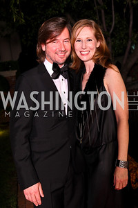 Photo by Tony Powell. Christopher Reiter, Juleanna Glover. Meridian Ball 2010. Meridian Intl. Center. October 1, 2010