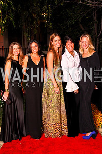 Photo by Tony Powell. Karen Lohnes, Gina Coburn, Mae Haney Grennan, Deborah Winsor, Kirsten Pollin. Meridian Ball 2010. Meridian Intl. Center. October 1, 2010