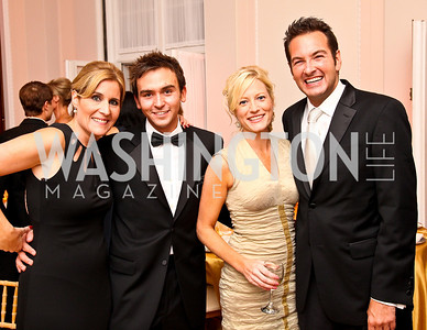 Photo by Tony Powell. Elizabeh Thorp, Tommy McFly, Jennifer Tapper, Marc Adelman. Meridian Ball 2010. Meridian Intl. Center. October 1, 2010