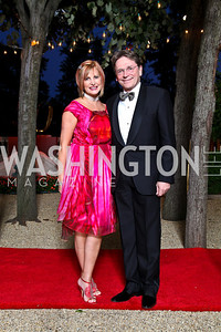 Photo by Tony Powell. Dr. Tina Alster, Paul Frazer. Meridian Ball 2010. Meridian Intl. Center. October 1, 2010