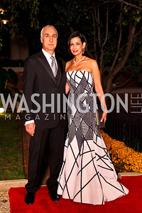 Photo by Tony Powell. Les Deak, Moshira Soliman. Meridian Ball 2010. Meridian Intl. Center. October 1, 2010