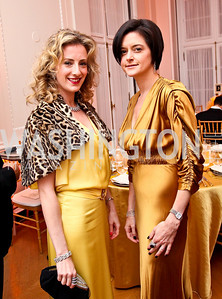 Photo by Tony Powell. Beth Masri, Stephanie Fateh. Meridian Ball 2010. Meridian Intl. Center. October 1, 2010