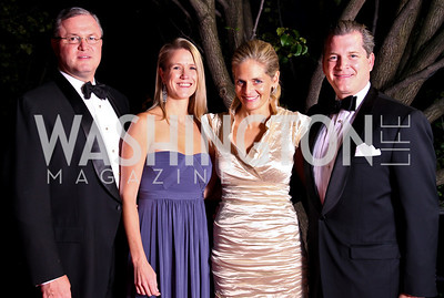 Photo by Tony Powell. Andrew and Jennifer Sprague, Kristen and Nels Olson. Meridian Ball 2010. Meridian Intl. Center. October 1, 2010