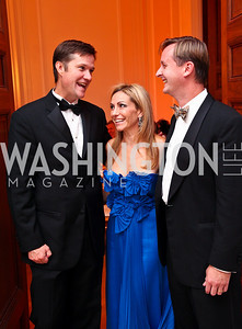 Photo by Tony Powell. Gordon Taylor, Pilar and Bill O'Leary. Meridian Ball 2010. Meridian Intl. Center. October 1, 2010