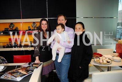 Mona Tanner, Richard DeBaere, Ricky DeBaere, Jing DeBaere. Mona Taner Heart Event. February 13,2010. Photo by Kyle Samperton.