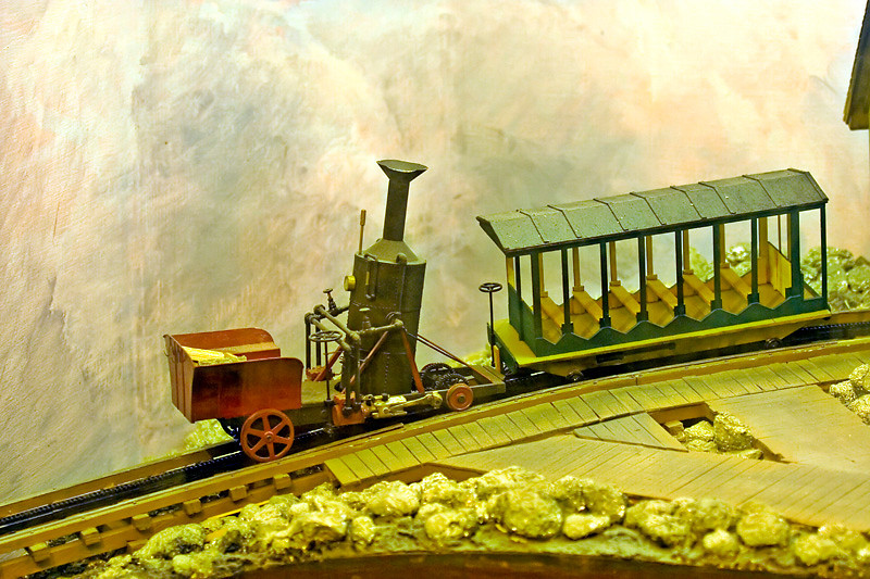 Model of the first Cog Railway