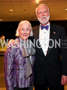 Anne and G. Wayne Clough. Photo by Tony Powell. Dinner in honor of the 2009 Recipients of the National Medal of Arts and the National Humanities Medal. Museum of American History. February 24, 2010